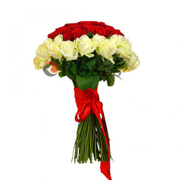"""Heart 'Wow!"""" 101 roses"""